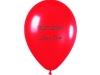 Balony czerwone z nadrukiem czarnym - nadruk sitodrukiem - PWSZ w Płocku