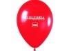 Czerwone balony z nadrukiem firmowym. Balony z logotypem firmowym Voltoria Medica.