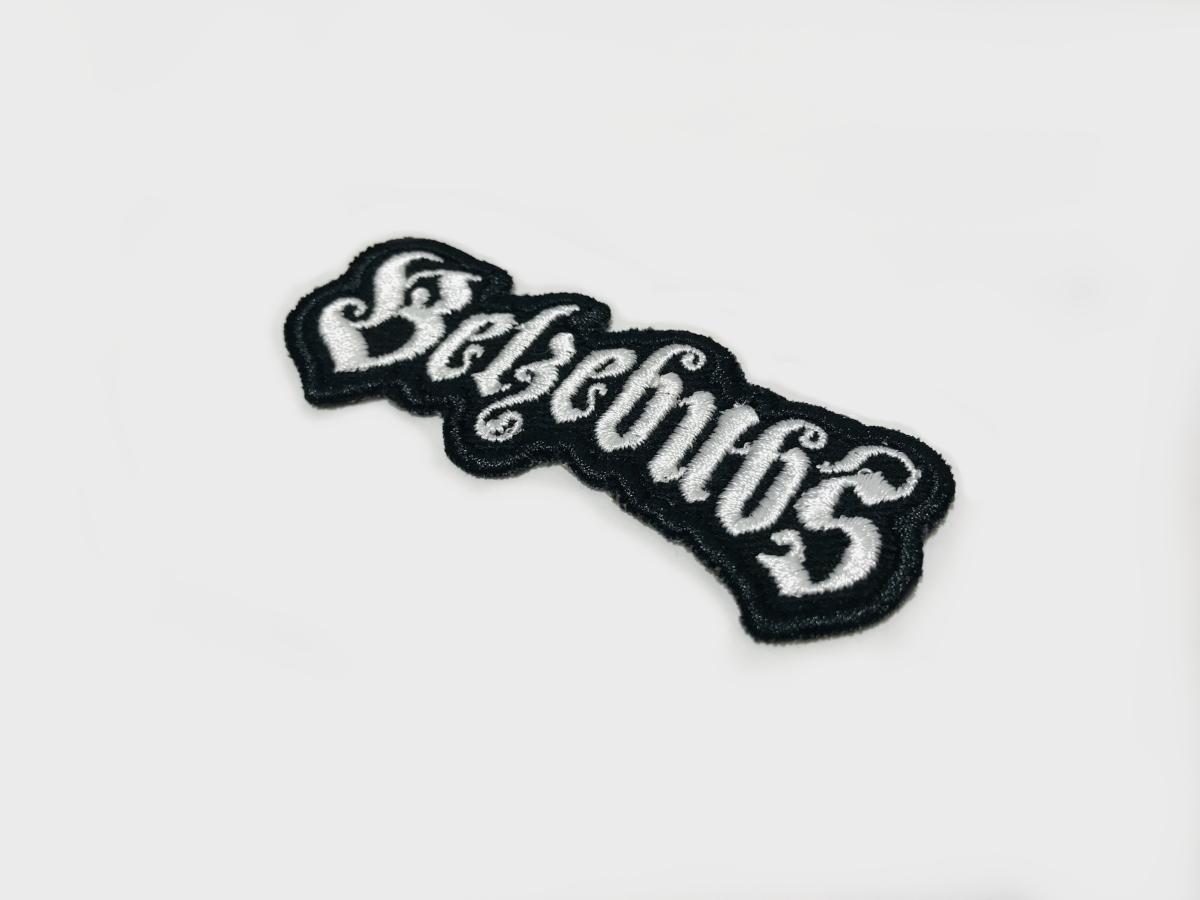 Haftowane logo Belzebubs. Naszywki haftowane z wybranym logo dla Backstage Rock Shop.