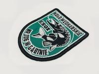 Koło wędkarskie PZW ESOX nr 106 w Gąbinie. Haft na kurtkach i bluzach, naszywki. Haftowane logo, herb Płock, Gąbin