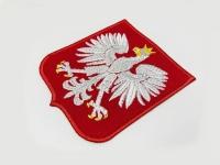 Naszywka Herb Godło Polski. Herb POLSKA, haft na koszulkach, koszulki polo z haftem  z Herbem.