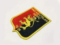 MKS Kasztelan Sierpc, kolorowy herb, haftowane dla drużyny sportowej. Koszulki z herbem oraz torby, haft. T-shirt plecak z naszywką Płock.