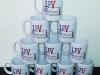 Kubki z własnym logo. Porcelitowe kubki z nadrukiem wykonane dla Liceum Francuskiego w Warszawie (LFV). Kubki sublimacyjne mogą mieć również nadrukowane zdjęcie. Jakość prosto z Płocka.