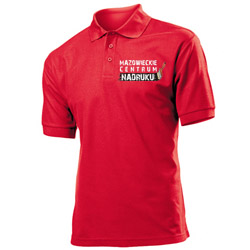 Polo shirts with custom embroidery. Advertising polo shirts. Polo with printed logo.
