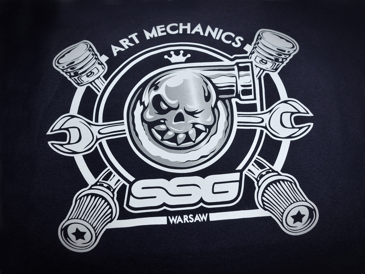 T-shirt z nadrukiem SSGARAGE - koszulki z własnym logo.
