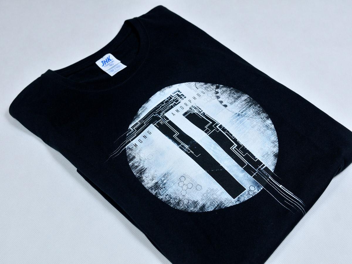 T-shirt z logo grupy muzycznej The Interbeing. Sitodruk separacyjny na koszulkach.