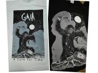 Koszulki z nadrukiem dla duńskiego klienta z własnym logo. Sitodruk czterokolorowy wykonany farbami wodnymi.
