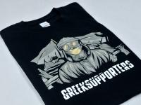 Koszulka z kolorowym nadrukiem. T-shirt z własnym projektem. Czarne koszulki z grafiką.