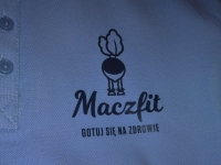 Koszulki polo z nadrukiem sitem - Maczfit - Gotuj się na zdrowie. Koszulki polo z nadrukiem transferowym.