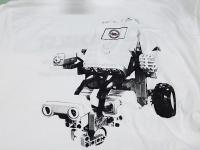 Koszulka t-shirt z nadrukiem rastrowym - Wydział Transportu Politechniki Warszawskiej. Koszulki z nadrukiem Politechnika Warszawska. T-shirt z nadrukiem rastrem farbami plastizolowymi. Koszulki dla studentów. Studenckie t-shirty.