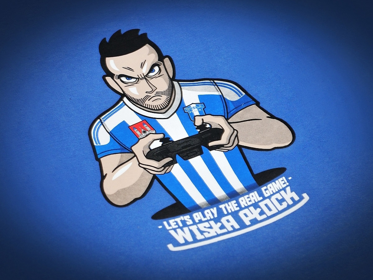 Koszulki z nadrukiem - T-shirt Wisła Płock.