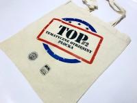 Tematyczne Otrzęsiny Płocka. Bawełniane torby z nadrukiem na drugą edycję TOP. Torby dla studenta z kolorowym logo. Torba na zakupy Płock