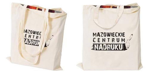 Ekologiczne torby bawełniane z nadrukiem Płock